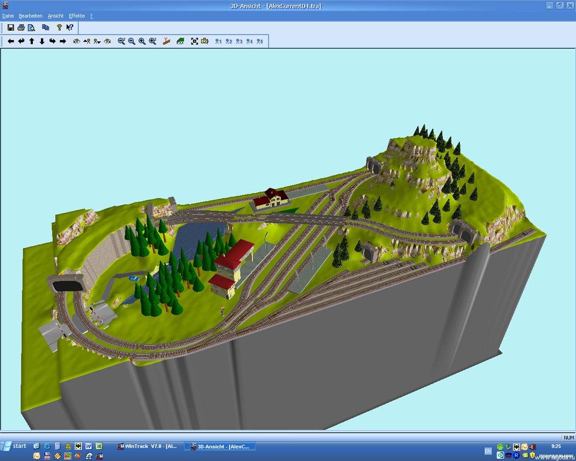 3D схема в Wintrack.